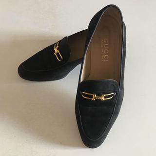 グッチ(Gucci)のGUCCI ホースビットローファー 黒(ローファー/革靴)