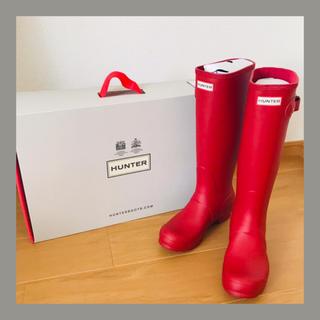 ハンター(HUNTER)のHUNTER ラバーロングレインブーツ 24.0センチ(レインブーツ/長靴)