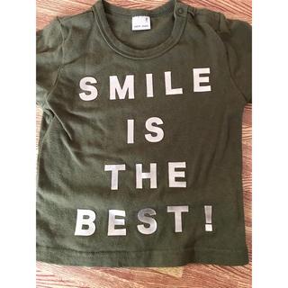 プティマイン(petit main)のゴールドロゴ カーキシャツ(Tシャツ/カットソー)