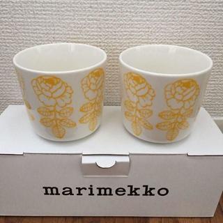 マリメッコ(marimekko)のマリメッコ ラテマグ ヴィヒキルース イエロー(グラス/カップ)