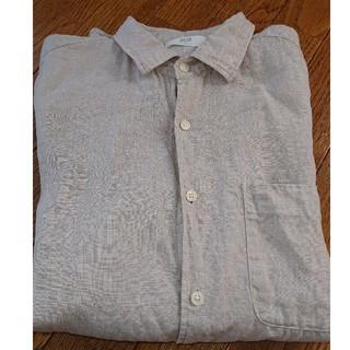 ユニクロ(UNIQLO)の美品  リネン長袖ワイシャツ(シャツ)