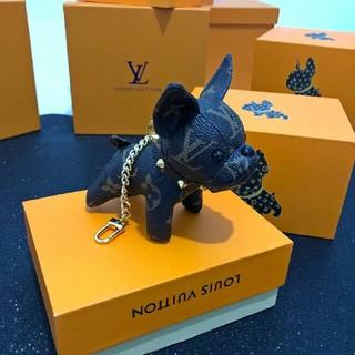 ルイヴィトン(LOUIS VUITTON)のLouis Vuitton キーホルダー ブラック 犬(キーホルダー)