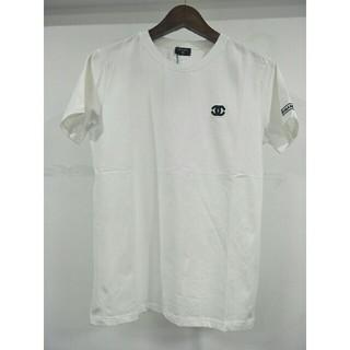 シャネル(CHANEL)のchanel シャネル ホワイト 半袖 Tシャツ(Tシャツ/カットソー(半袖/袖なし))