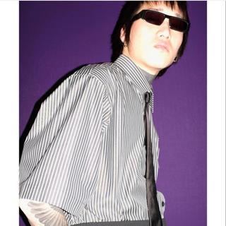ジョンローレンスサリバン(JOHN LAWRENCE SULLIVAN)のJOHN LAWRENCE SULLIVAN 18ss ストライプシャツ(シャツ)