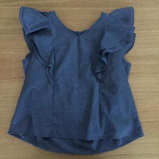 イーハイフンワールドギャラリー(E hyphen world gallery)の肩フリルシャツ(シャツ/ブラウス(半袖/袖なし))
