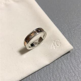 ヨンドシー(4℃)の4℃ ヨンドシー シルバー ピンクゴールド リング 指輪 5.5号(リング(指輪))