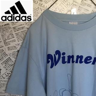 アディダス(adidas)の【激レア】ライトブルーカラーadidas Tシャツ アディダス ヴィンテージ(Tシャツ/カットソー(半袖/袖なし))