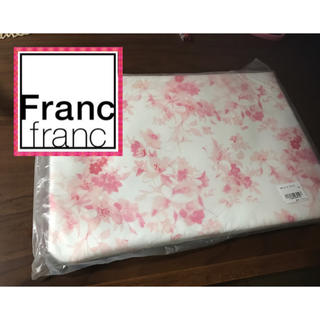 フランフラン(Francfranc)の新品!フランフラン  ピンク花柄 ジップポーチA4サイズ!PCケースにも♡(ポーチ)