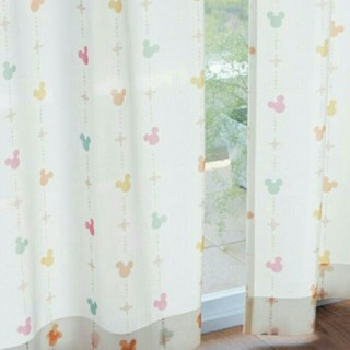 ベルメゾン(ベルメゾン)のディズニー ミッキー レースカーテン UVカット 遮熱遮像つき(レースカーテン)