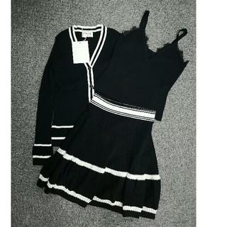 シャネル(CHANEL)のシャネル タンクトップ インナー セーター スカート M 正規品(ニット/セーター)