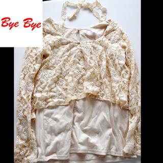 ByeBye - byebye♡ベージュレーストップス900円