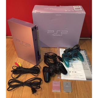 プレイステーション2(PlayStation2)のプレイステーション2 サクラ SAKURA【限定色】PS2ソフトセット(家庭用ゲーム本体)