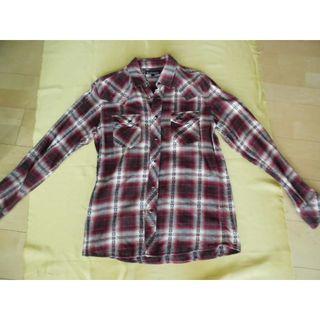 しまむら - しまむら ソリデル 赤チェックシャツ L