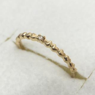 オレンジ様専用 K18YG ダイヤモンド デザイン リング 0.01 5号(リング(指輪))