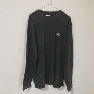 アディダス(adidas)の古着 adidas 黒 ロンT 長袖シャツ(Tシャツ/カットソー(七分/長袖))