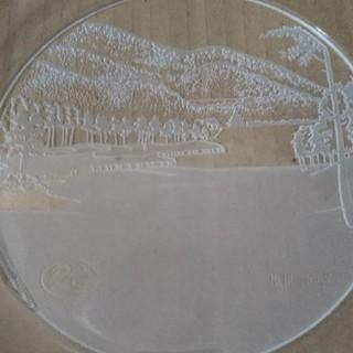 未使用品 マツガオカ クリスタル ブランド大皿 プレート ゴルフ コンペ 記念品(食器)
