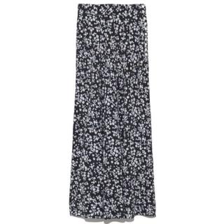 フレイアイディー(FRAY I.D)の完売品❤️ フレイアイディー ナローフレアフラワースカート ナロースカート 黒(ロングスカート)