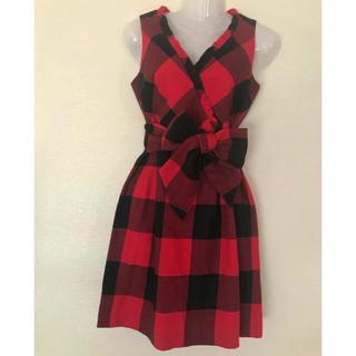 グレースコンチネンタル(GRACE CONTINENTAL)のグレースコンチネンタル チェック ブロックチェック ワンピース ドレス(ミディアムドレス)