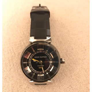 ルイヴィトン(LOUIS VUITTON)のルイヴィトン LOUIS VUITTON タンブール イン ブラック GMT(腕時計(アナログ))
