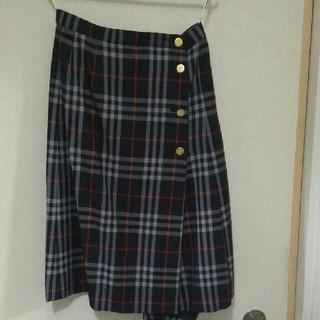 バーバリー(BURBERRY)のバーバリー 巻きチェックスカート  BURBERRYS(ひざ丈スカート)