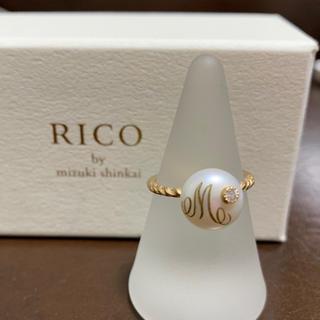 アッシュペーフランス(H.P.FRANCE)のRICO by mizuki shinkai  淡水パール ダイヤ リング 水金(リング(指輪))