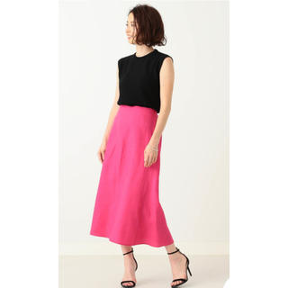 Demi-Luxe BEAMS - Demi-luxe BEAMS  リネン フィット&フレアスカート