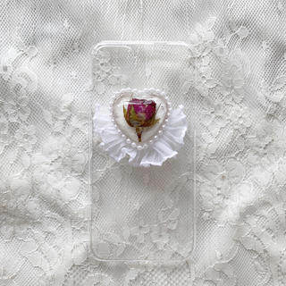 rose frill iPhone case(スマホケース)