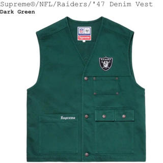 シュプリーム(Supreme)のSupreme × NFL Raiders × '47 Denim Vest M(ベスト)