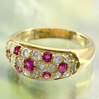 K18ルビーリングダイヤ指輪(リング(指輪))