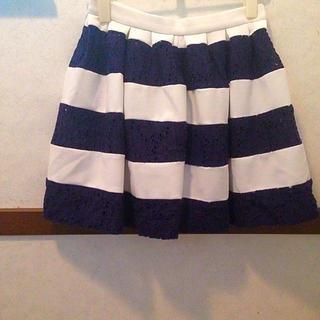 マーキュリーデュオ(MERCURYDUO)のMERCURY DUO♡ボーダースカート(ミニスカート)