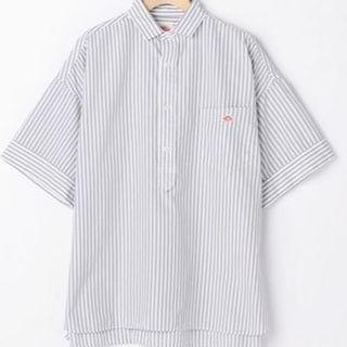 ダントン(DANTON)の新品◇DANTONグレーストライプシャツ(シャツ/ブラウス(半袖/袖なし))