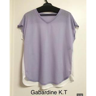 Gabardine K.T ブラウス 半袖 トップス 半袖Tシャツ (シャツ/ブラウス(半袖/袖なし))