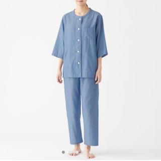 MUJI (無印良品) - 脇に縫い目のない 細番手二重ガーゼパジャマ・婦人L