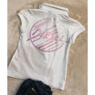 ディーゼル(DIESEL)のDIESEL  ディーゼル 前後ロゴポロ風 女の子半袖Tシャツ2 8090(Tシャツ)