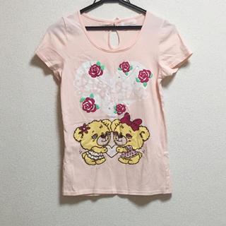 リズリサ(LIZ LISA)のリズリサ ピンクTシャツ(Tシャツ(半袖/袖なし))