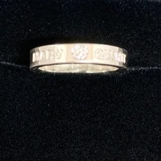 マリークワント(MARY QUANT)のマリークワント 刻印✴︎真珠風リング(リング(指輪))