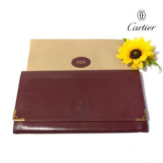 カルティエ(Cartier)の【コスパ⭐️】 カルティエ  セカンドバッグ クラッチバッグ ボルドー(クラッチバッグ)