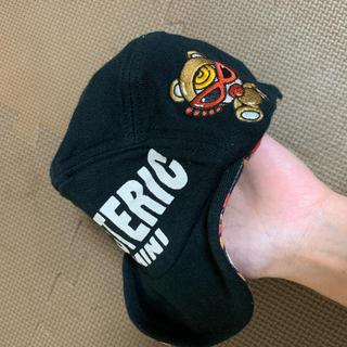 ヒステリックミニ(HYSTERIC MINI)のヒスミニ  テディ ブラウン リバーシブルキャップ(帽子)
