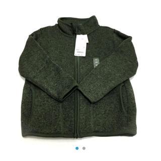 ユニクロ(UNIQLO)のユニクロ☆新品☆110☆裏起毛襟なしジャケット(ジャケット/上着)