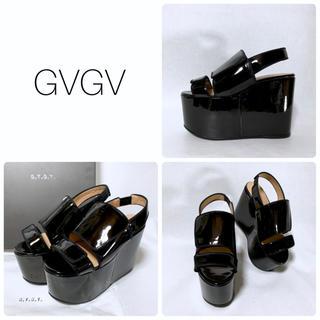 G.V.G.V. - ■定5.2万 G.V.G.V. ジーヴィージーヴィー サンダル M 23.5 黒