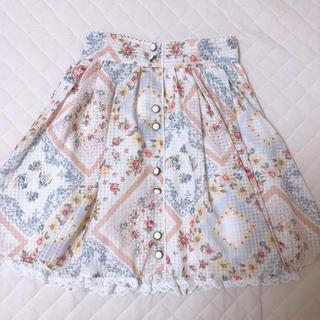 リズリサ(LIZ LISA)のLIZLISA 花柄スカート(ひざ丈スカート)