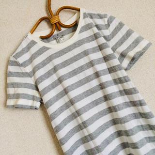 ムジルシリョウヒン(MUJI (無印良品))の*美品◎ 無印良品 良品計画♪ ボーダーTシャツ カットソー☆Mサイズ(カットソー(半袖/袖なし))