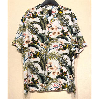 H&M - 【H&M】新作&新品 Flower & bird  アロハシャツ