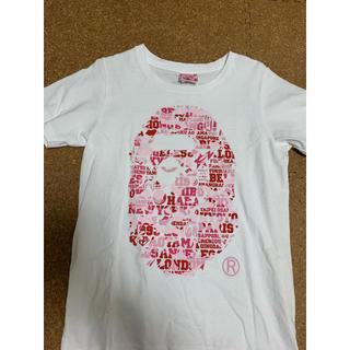 アベイシングエイプ(A BATHING APE)の激レアSサイズ! BAPE25周年猿顔Tシャツ ピンク XXV(Tシャツ/カットソー(半袖/袖なし))