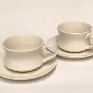 ジェンガラ(Jenggala)のJENGGALA カップ&ソーサー 2客セットホワイト 正規輸入(食器)
