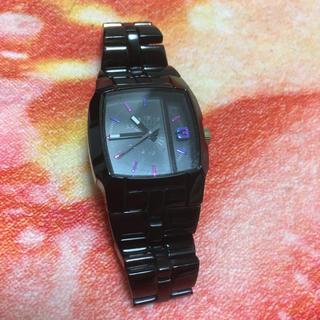 710c9c08f0 ディーゼル(DIESEL)のDIESEL レディース腕時計 watchCliffhangerメタル ブラック(腕時計)
