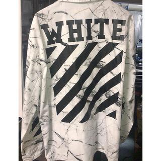オフホワイト(OFF-WHITE)のoff-white マーブル ジャケット ホワイト(ミリタリージャケット)