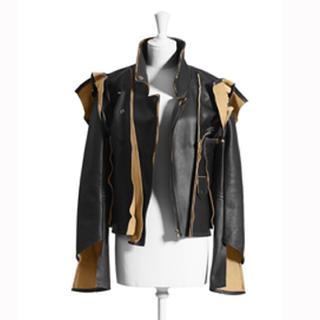 Maison Martin Margiela - H&M メゾンマルジェラ コラボ 解体レザージャケット ライダース ブラック 黒