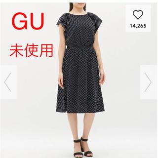 GU - GU ドットワンピース 未使用 L