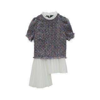 エイミーイストワール(eimy istoire)のスプリングツイードコンビトップス  (Tシャツ/カットソー(半袖/袖なし))